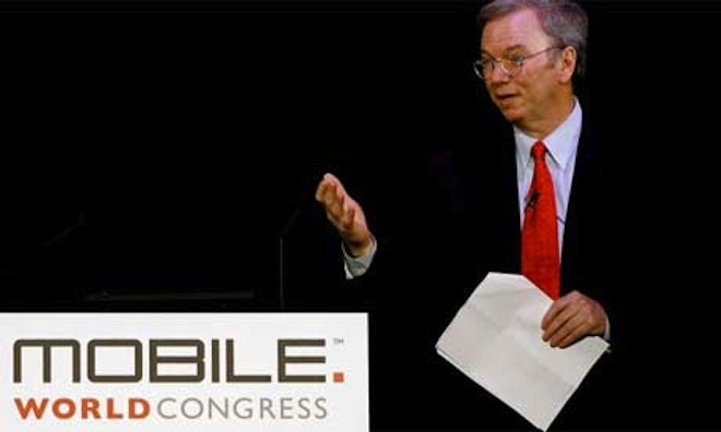 Eric Schmidt's MWC keynote — A lesson in changing management