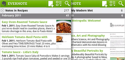 evernote1 Evernote for Android Releases New Updates
