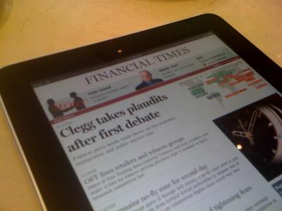 Financial Times iPad App Soon To Pass 500,000 Downloads