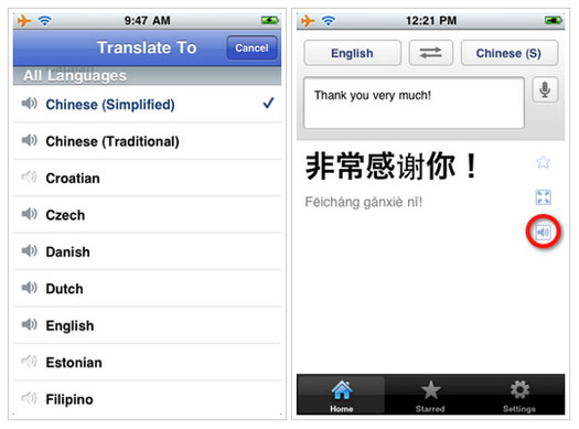 googlet2 Google Translate Now has an iPhone App