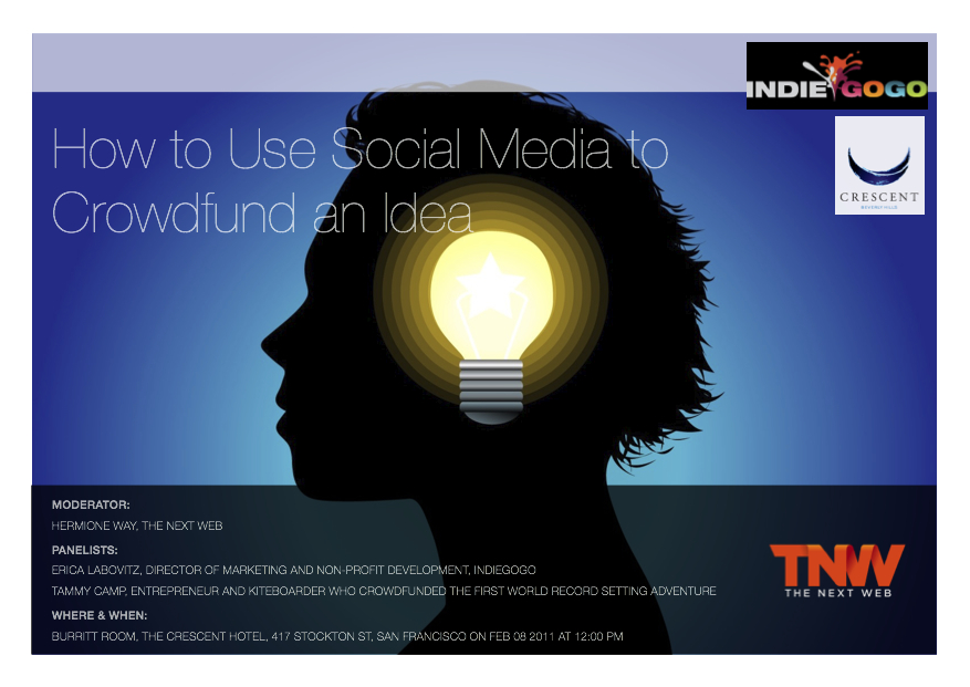 Want to know how to use social media to crowdfund an idea?