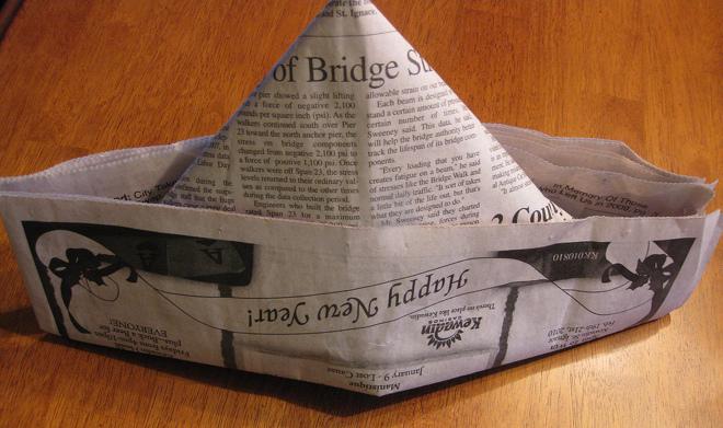 Как сделать газетную шапку