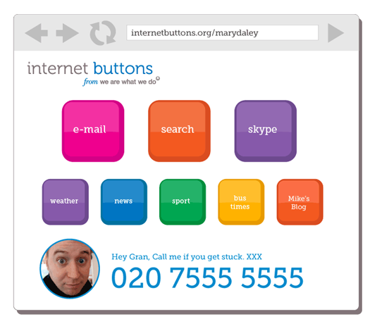 internetbuttons A new tool to help Internet Beginners and Seniors use the Web