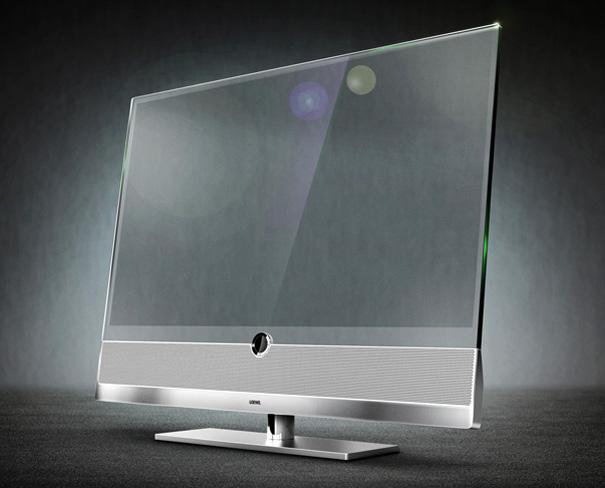 loewe invisio a stunning transparent flat screen tv. Black Bedroom Furniture Sets. Home Design Ideas