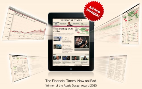 ipad home 500x314 Financial Times iPad App Soon To Pass 500,000 Downloads