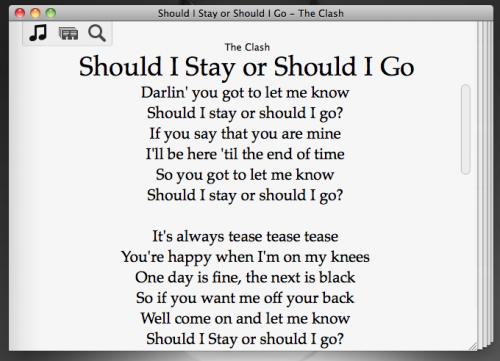 Lyrica 2: Simple app for Mac displays the Lyrics of your iTunes