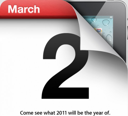 Apple confirms the March 2nd iPad 2 announcement