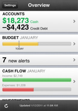 mint 260x373 10 Free iPhone Apps to Help You Save Money