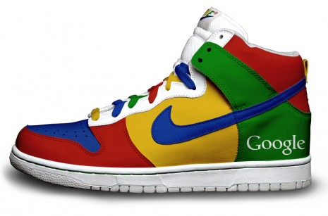 nike sneakers google Nike sneakers featuring Firefox, Twitter and Google. You want one, you know you do.