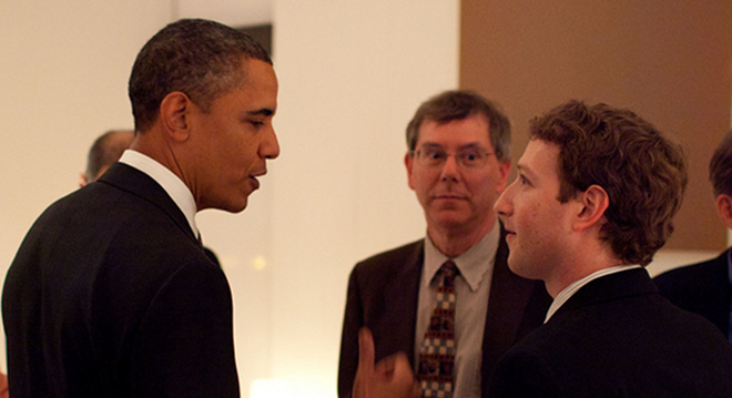 When Obama met Zuckerberg, caught on camera