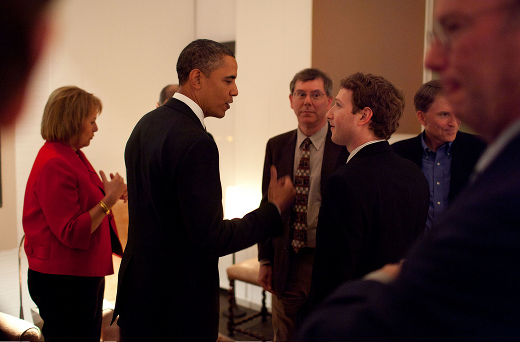 obama zuck1 When Obama met Zuckerberg, caught on camera