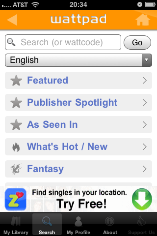 photo Wattpad: Great Mobile Reading.
