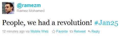 Tweet From inside Egypt