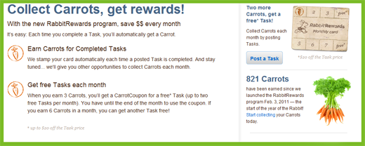 rewards1 TaskRabbit makes outsourcing your personal tasks a breeze.