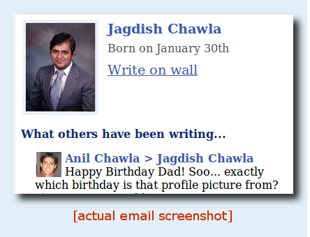 screenshot bday TheFriendMail: Your entire Facebook, in your email.