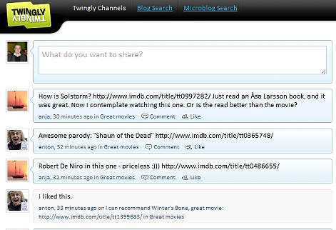 twingly conversation view Twinglys FriendFeed for business moves into corporate microblogging