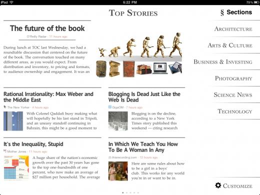 06 topstories land 520x390 Just launched: Zite, the iPad magazine that gets smarter as you use it