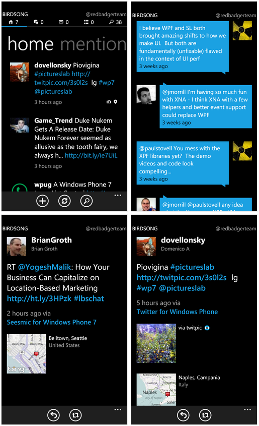 2011 03 07 1726 Birdsong for WP7 is Twitter nirvana