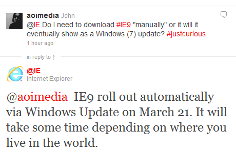 2011 03 16 1628 Internet Explorer 9 to be forced on world March 21st via Windows Update