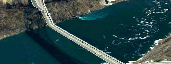 Twisted Images of Bridges from Google Earth