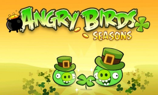 Photo Mar 09 7 57 40 PM e1299722690508 520x313 Angry Birds Seasons St. Patricks Day update available now!