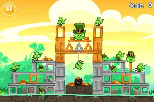 Photo Mar 09 7 57 49 PM e1299722915396 520x346 Angry Birds Seasons St. Patricks Day update available now!