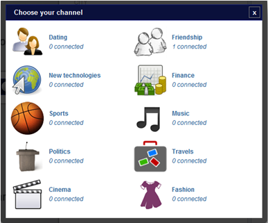 Pick or Skip Channels Pick or Skip is Chatroulette minus having to look at anothers lower half