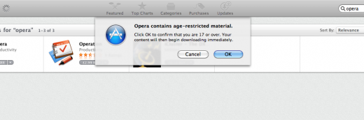 Picture 209 03 03 2011 12 05 03 520x172 Apple slaps Opera with an over 17 rating on Mac App Store, but does it care?
