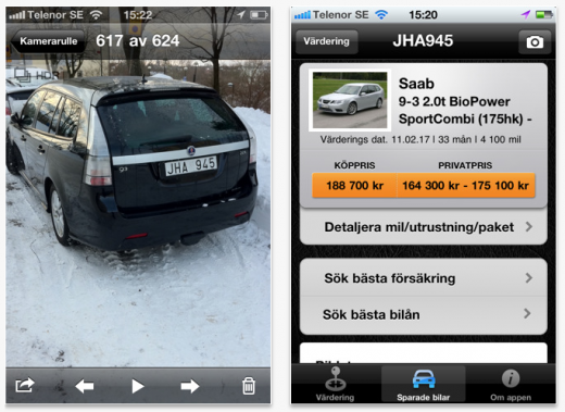 Picture 22 520x379 iPhone app lets users snap a picture of cars license for prices and specs
