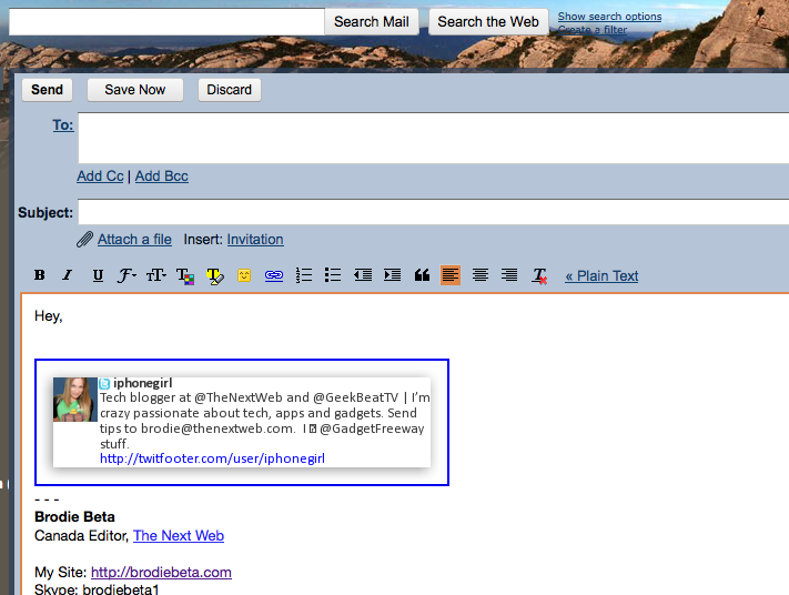 Picture 35 TwitFooter spruces up your email signatures with tweets