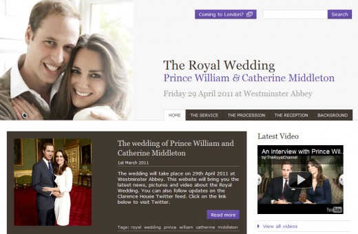 Royal Wedding Website 520x340 Google chosen to host Royal Wedding website