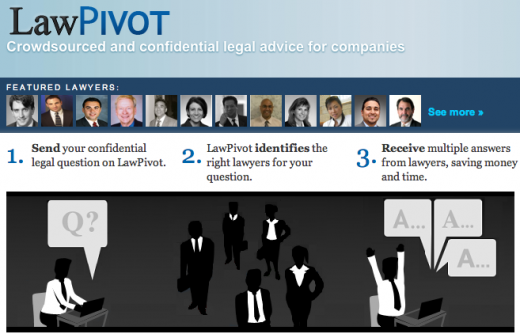 Screen shot 2011 03 03 at 1.02.54 PM 520x334 Legal matchmaking made in heaven at LawPivot. And its free, for now.