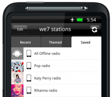 Screen shot 2011 03 06 at 17.15.03 220x191 We7 fires shot at Last.fm with free personal mobile radio that works offline