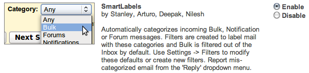 Screen shot 2011 03 09 at 10.20.41 AM Gmail introduces Smart Labels to auto filter your bulk email