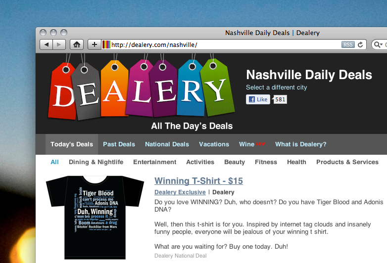 Dealery: Daily deals aggregation and now its own #winning products too