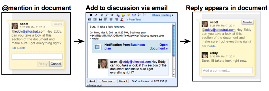 Screen shot 2011 03 16 at 8.30.41 AM Google brings Discussions to Docs. Your problems, solved in real time.