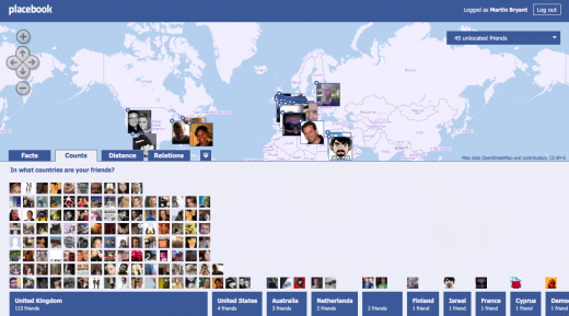 Screen shot 2011 03 25 at 18.05.18 520x289 Placebook puts your Facebook friends on the map with style