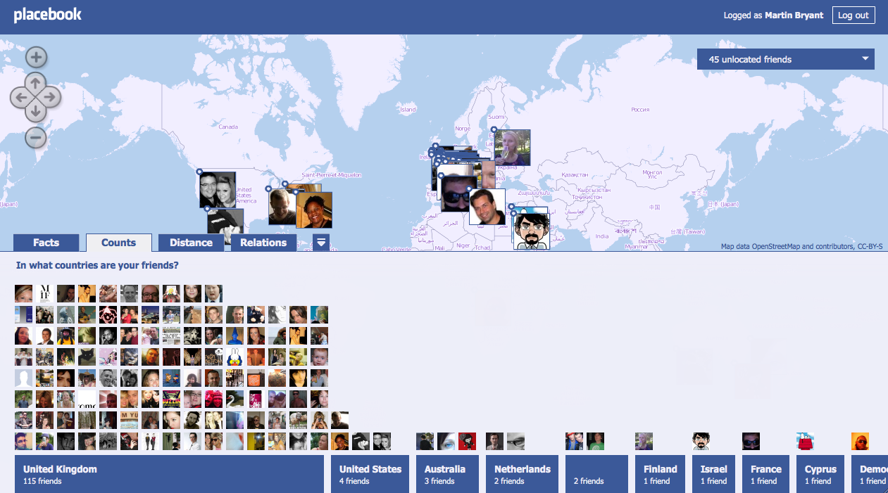 placebook puts your friends on the map with style