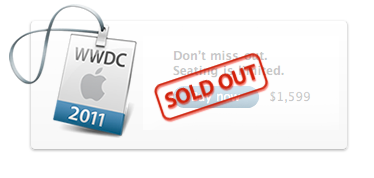 Screen shot 2011 03 29 at 07.48.38 Apples WWDC Sells Out Within 24 Hours, Beats Previous Record By 7 Days