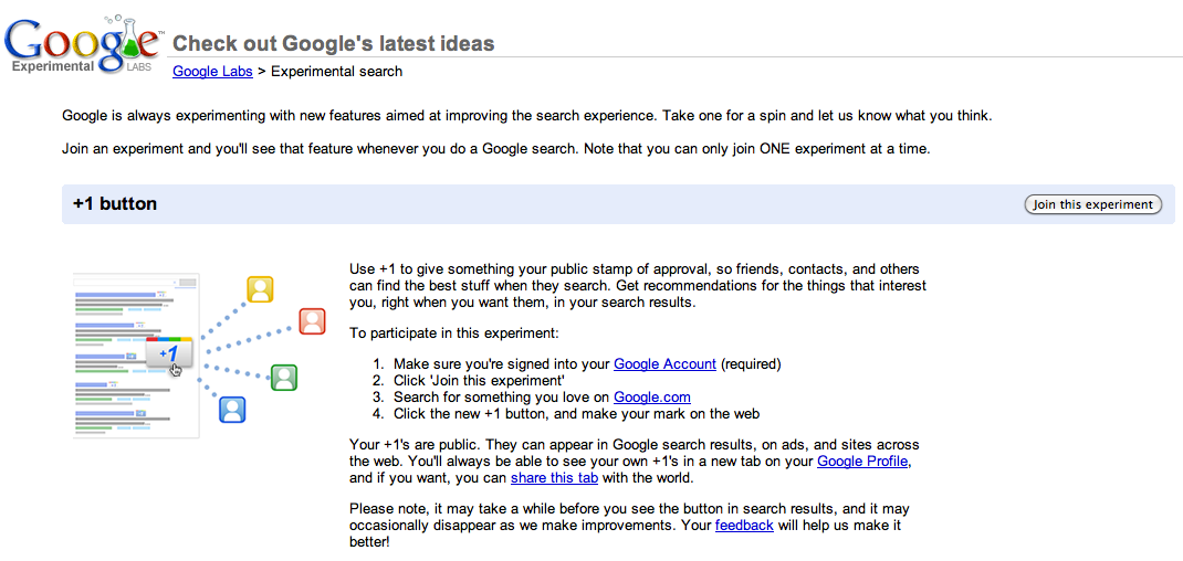 How to: Enable Google +1 for your account right now