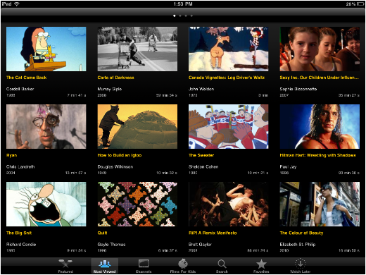 content1 NFB for iPad: A beautiful app featuring over 2000 Canadian films