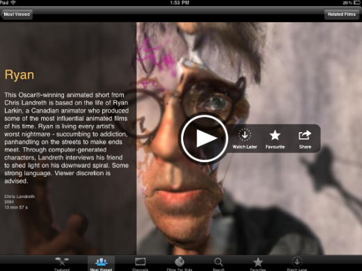 content2 NFB for iPad: A beautiful app featuring over 2000 Canadian films