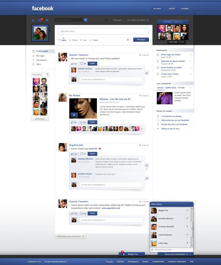 facebook redesign by jonaska d3bsy7s 852x1024 Would you prefer it if Facebook looked like this?