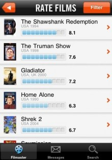 filmaster 220x316 Filmasters iPhone app is Foursquare for cinemagoers