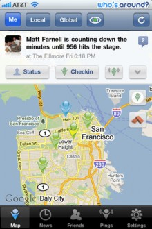 iPhoneScreenshot1 220x330 Explore Facebook Places checkins on a map with MeMap