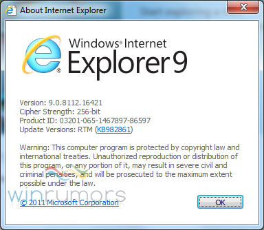 ie9rtm Microsoft signs off on the final IE9 build