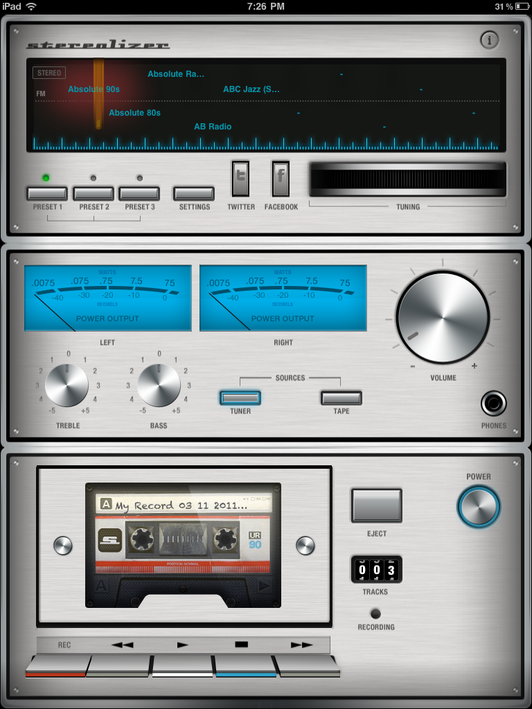 image30 Stereolizer: A retro style audio recorder and radio for the iPad