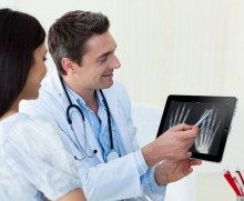 drchrono using EHR on iPad with patient