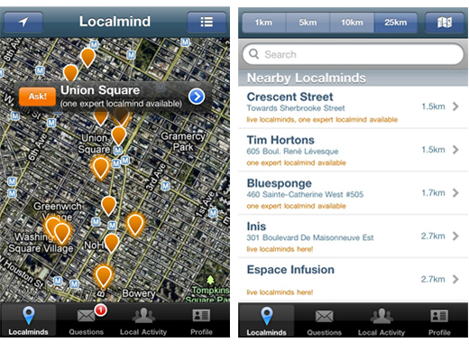 localminds LocalMind: Quora meets FourSquare [invites]
