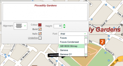 map1 520x280 Create custom maps and save them as PDFs with FINDs Personalise Your Map